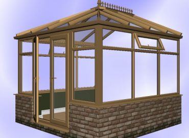 Edwardian Conservatory finished in oak