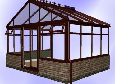 Gable Conservatory finished in cherry