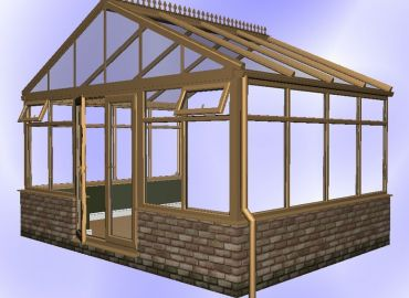 Gable Conservatory finished in oak