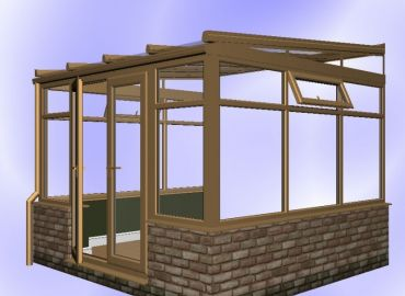 Lean To Conservatory finished in oak