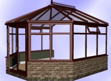 Victorian Conservatory finished in cherry