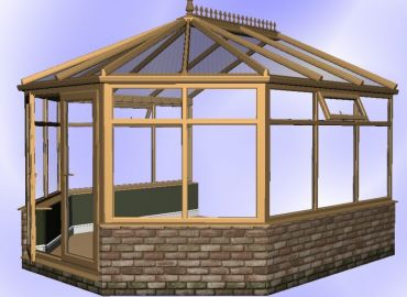 Victorian Conservatory finished in oak