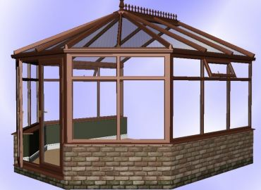 Victorian Conservatory finished in mahogany