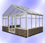 Gable Conservatory with Dwarf Wall